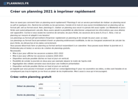 plannings.fr
