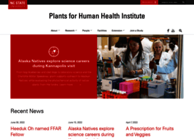 plantsforhumanhealth.ncsu.edu