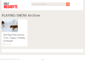 playing-snow.dailymegabyte.com