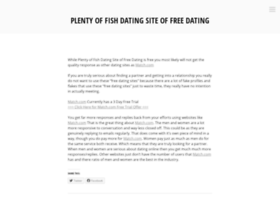 plentyoffishdatingsiteoffreedating.wordpress.com