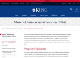 pmba.king.edu