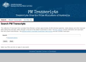 pmtranscripts.dpmc.gov.au