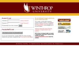 pobox.winthrop.edu