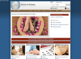 podiatry.nv.gov
