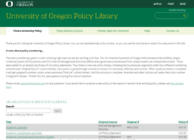 policies.uoregon.edu