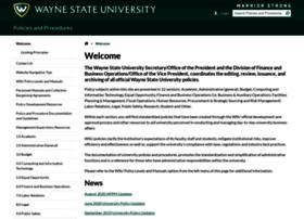 policies.wayne.edu