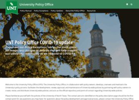 policy.unt.edu