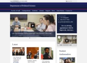 politicalscience.olemiss.edu