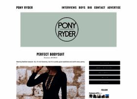 pony-ryder.com
