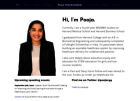 poojachandrashekar.com