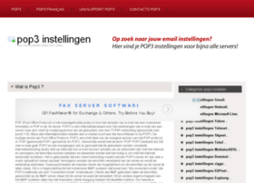 pop3instellingen.be