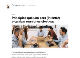 porlapuertatrasera.com
