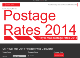 postage-rates-2014.co.uk