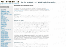 postcodemaster.com