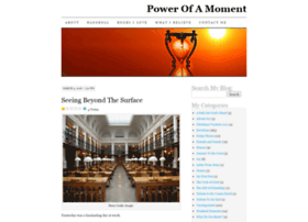 powerofamoment.com