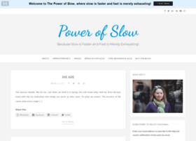 powerofslow.com