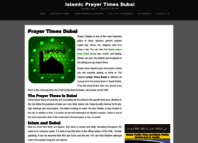 prayertimesdubai.net