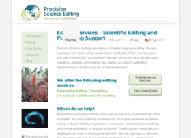 precisionscienceediting.com
