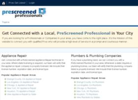 prescreenedprofessionals.com