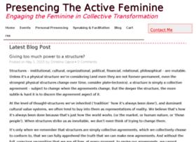 presencingtheactivefeminine.com