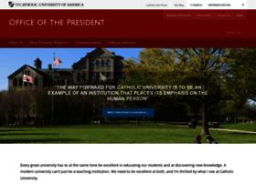president.cua.edu