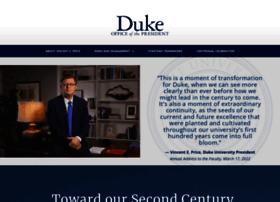 president.duke.edu