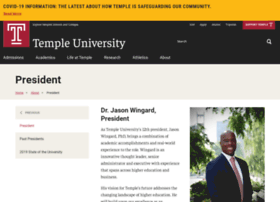 president.temple.edu