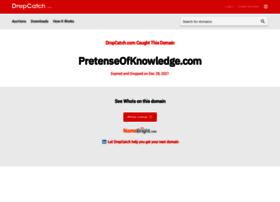 pretenseofknowledge.com
