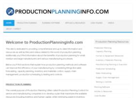 productionplanninginfo.com