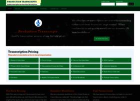 productiontranscripts.com