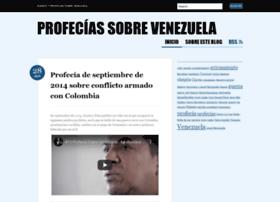 profeciassobrevenezuela.wordpress.com