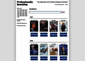 professionallyspeaking.oct.ca