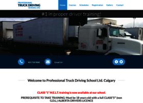 professionaltruckdrivingschoolltd.com