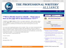 professionalwritersalliance.groupsite.com