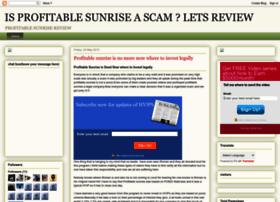 profitablesunrisescam.blogspot.co.uk