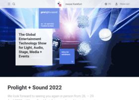 prolight-sound.messefrankfurt.com