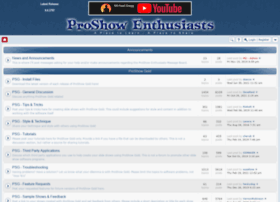 proshowenthusiasts.com