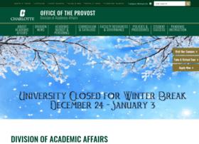 provost.uncc.edu