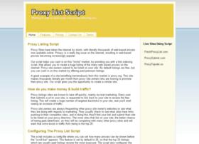 proxylistscript.com
