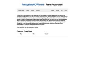 proxysitesnow.com