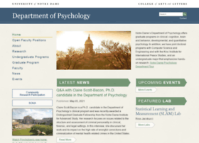 psychology.nd.edu