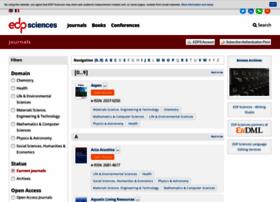 publications.edpsciences.org