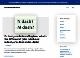punctuationmatters.com