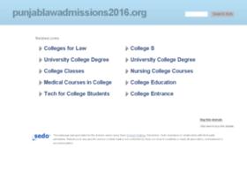 punjablawadmissions2016.org