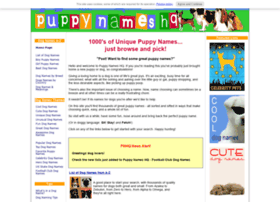 puppy-names-hq.com