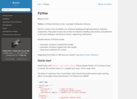 pystan.readthedocs.org