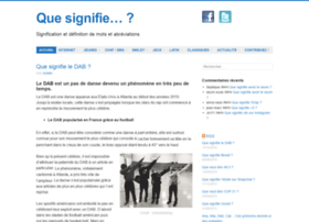 que-signifie.org