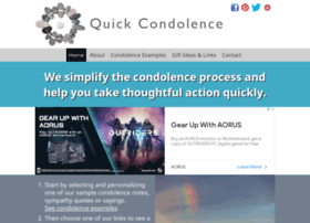 quickcondolence.com