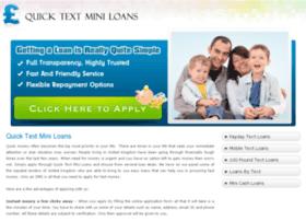 quicktextminiloans.co.uk
