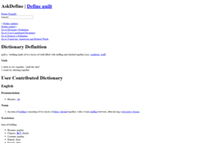 quilt.askdefine.com